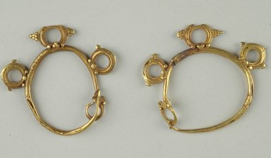 Brooklyn Museum: Pair of Earrings