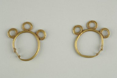 Pair of Earrings, 6th century C.E. Gold, 1 1/2 in. (3.8 cm). Brooklyn Museum, Ella C. Woodward Memorial Fund, 05.448a-b. Creative Commons-BY