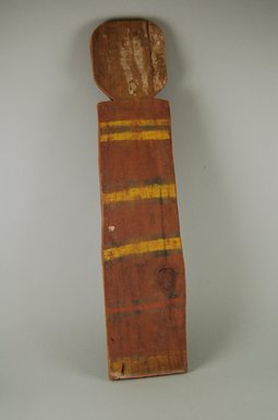 Pueblo, Keres (Native American). Koshare Puyatyme Image. Wood, pigment, 19 1/4 x 4 1/2 in.  (48.9 x 11.4 cm). Brooklyn Museum, Museum Expedition 1905, Museum Collection Fund, 05.588.7645. Creative Commons-BY