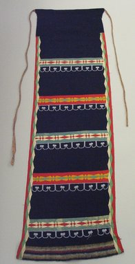 Possibly Chippewa (Native American). Dark Blue Legging. Wool, silk, cotton, beads, 41 5/16 x 12 5/8 in.  (105.0 x 32.0 cm). Brooklyn Museum, Brooklyn Museum Collection, 05.66. Creative Commons-BY