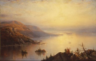 Régis François Gignoux (French, active in the United States, 1816-1882). Lake George, 1868. Oil on canvas, 29 1/8 x 45 7/16 in. (74 x 115.4 cm). Brooklyn Museum, Bequest of Caroline H. Polhemus, 06.77