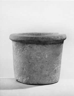 Cylindrical Vase. Limestone, 3 1/2 x Diam. 4 in. (8.9 x 10.2 cm). Brooklyn Museum, Charles Edwin Wilbour Fund, 07.447.148. Creative Commons-BY