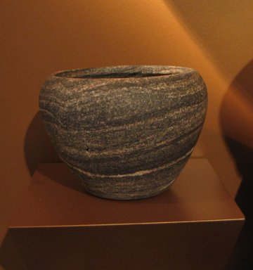 Bowl, ca. 2800-2675 B.C.E. Anorthosite gneiss, 4 3/4 x Diam. 6 9/16 in. (12 x 16.6 cm). Brooklyn Museum, Charles Edwin Wilbour Fund, 07.447.180. Creative Commons-BY