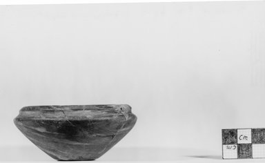 Squat Bowl. Limestone, 1 7/16 x Diam. 3 1/4 in. (3.7 x 8.3 cm). Brooklyn Museum, Charles Edwin Wilbour Fund, 07.447.203. Creative Commons-BY