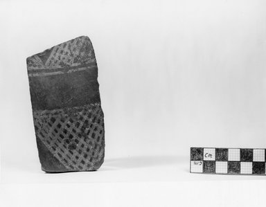Pottery Fragment. Pottery, 4 1/8 x 2 3/16 in. (10.5 x 5.6 cm). Brooklyn Museum, Charles Edwin Wilbour Fund, 07.447.407. Creative Commons-BY