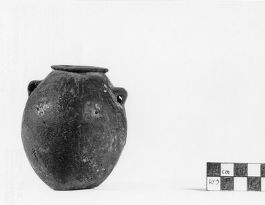 Globular Jar. Pottery, 3 9/16 x 3 1/8 in. (9 x 7.9 cm). Brooklyn Museum, Charles Edwin Wilbour Fund, 07.447.429. Creative Commons-BY