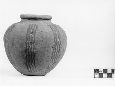 Miniature Globular Vase. Pottery, pigment(?), 1 3/4 x diam. 2 1/2 in. (4.5 x 6.3 cm). Brooklyn Museum, Charles Edwin Wilbour Fund, 07.447.431. Creative Commons-BY