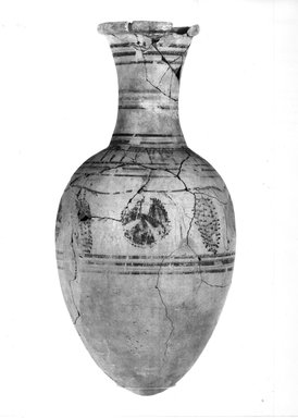 Brooklyn Museum: Wine Jar Showing Grape Vine