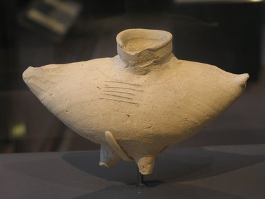 Vessel in Form of Bird's Body, ca. 1630-1539 B.C.E. Clay, 4 5/8 x 3 3/16 x 7 1/2 x 1 1/2 in. (11.7 x 8.1 x 19 x 3.8 cm). Brooklyn Museum, Charles Edwin Wilbour Fund, 07.447.458. Creative Commons-BY