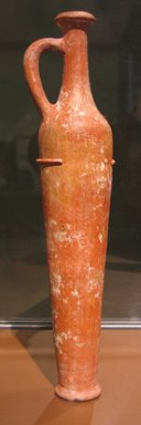 Egyptian Imitation of Western Asiatic Oil Bottle, ca. 1539-1390 B.C.E. Pottery, polished, 12 5/8 x Diam. of foot 2 7/16 in. (32 x 6.2 cm). Brooklyn Museum, Charles Edwin Wilbour Fund, 07.447.459. Creative Commons-BY