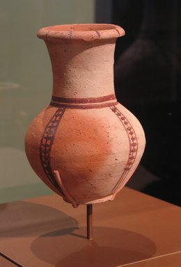 Pitcher Imitating Cypriot and Western Asiatic Jug, ca. 1470-1400 B.C.E. Pottery, painted, 7 1/16 x Diam. 4 15/16 in. (17.9 x 12.5 cm). Brooklyn Museum, Charles Edwin Wilbour Fund, 07.447.473. Creative Commons-BY