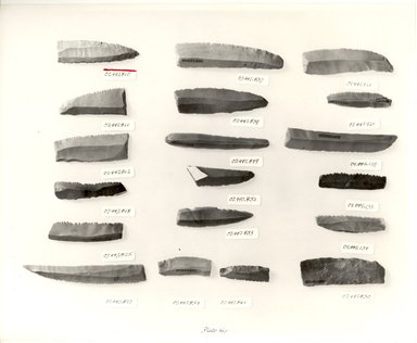 Sickle Blade. Flint, Measurements for 07.447.920-07.447.924: 4.7 x 2.3; 6.5 x 1.6; 4.6 x 1.4; 5 x 1.3; 5.8 x 1.4. Brooklyn Museum, Charles Edwin Wilbour Fund, 07.447.921. Creative Commons-BY