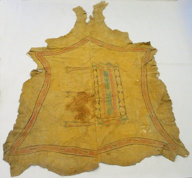 Arapaho (Native American). Buffalo Robe, early 20th century. Buffalo hide, pigment Brooklyn Museum, Museum Expediton 1907, Museum Collection Fund, 07.467.8224. Creative Commons-BY