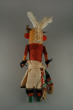 She-we-na (Zuni Pueblo) (Native American). Kachina Doll (Ouah Thlama), late 19th century. Wood, feather, cotton, pigment, 13 x 3 7/8 x 4 7/16in. (33 x 9.8 x 11.2cm). Brooklyn Museum, Museum Expedition 1907, Museum Collection Fund, 07.467.8409. Creative Commons-BY