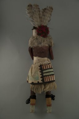She-we-na (Zuni Pueblo) (Native American). Kachina Doll (Tsemuche), late 19th century. Wood, cloth, yarn, fur, feather, 4 5/16 x 4 5/16 x 15 7/16in. (11 x 11 x 39.2cm). Brooklyn Museum, Museum Expedition 1907, Museum Collection Fund, 07.467.8413. Creative Commons-BY