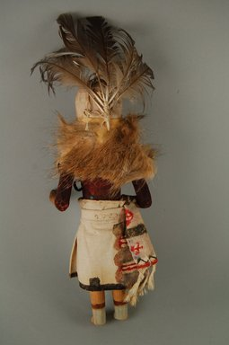 She-we-na (Zuni Pueblo) (Native American). Kachina Doll (Wampeto), late 19th century. Wood, fur, feathers, yarn, pigment, 4 7/16 x 3 3/4 x 11 5/8in. (11.3 x 9.5 x 29.6cm). Brooklyn Museum, Museum Expedition 1907, Museum Collection Fund, 07.467.8426. Creative Commons-BY