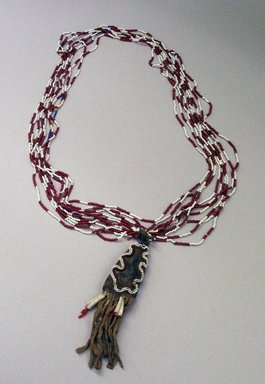 Brooklyn Museum: Medicine Necklace with Pouch Containing Umbilical Cord