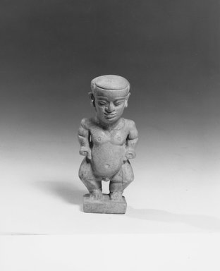 Pataikos Amulet. Faience, 3 x 1 1/4 in. (7.6 x 3.2 cm). Brooklyn Museum, Charles Edwin Wilbour Fund, 08.480.137. Creative Commons-BY
