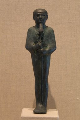 Standing Mummiform Statuette of Ptah, ca. 1070-653 B.C.E. Bronze, 5 13/16 x 1 3/4 in. (14.8 x 4.5 cm). Brooklyn Museum, Charles Edwin Wilbour Fund, 08.480.25. Creative Commons-BY