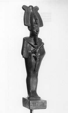Standing Statuette of Osiris, Mummiform, ca. 664-332 B.C.E. Bronze, 7 7/16 x 2 1/16 in. (18.9 x 5.2 cm). Brooklyn Museum, Charles Edwin Wilbour Fund, 08.480.38. Creative Commons-BY