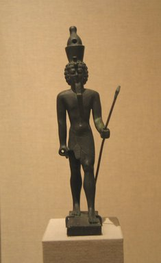 Standing Statuette of Neferhotep, ca. 380-30 B.C.E. or later. Bronze, 8 3/4 x 1 5/16 x 2 15/16 in. (22.2 x 3.4 x 7.5 cm). Brooklyn Museum, Charles Edwin Wilbour Fund, 08.480.50. Creative Commons-BY