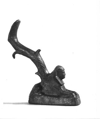 Graeco-Egyptian. Reclining Sphinx, 332-ca. 31 B.C.E. Bronze, 4 1/2 x 3/4 x 2 3/4 in. (11.5 x 1.9 x 7 cm). Brooklyn Museum, Charles Edwin Wilbour Fund, 08.480.51. Creative Commons-BY