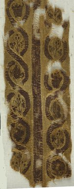 Coptic. Two Fragments of Tapestry Woven Borders, 4th-5th century C.E. Flax, wool, 08.480.54a: 2 x 13 in. (5.1 x 33 cm). Brooklyn Museum, Charles Edwin Wilbour Fund, 08.480.54a-b. Creative Commons-BY