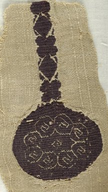 Coptic. Small Fragment of Tapestry - Woven, 4th century C.E. (probably). Flax, wool, 2 5/8 x 4 5/8 in. (6.6 x 11.7 cm). Brooklyn Museum, Charles Edwin Wilbour Fund, 08.480.55. Creative Commons-BY