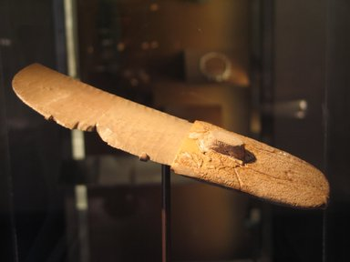 Ritual Knife, ca. 3300-3100 B.C.E. Flint, elephant ivory, 2 1/16 x 9 3/16 in. (5.3 x 23.4 cm). Brooklyn Museum, Charles Edwin Wilbour Fund, 09.889.118. Creative Commons-BY