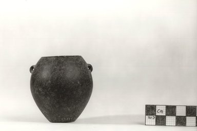 Ovoid Vase with Two Small Perforated Handles. Basalt, 2 9/16 x Diam. 2 3/8 in. (6.5 x 6.1 cm). Brooklyn Museum, Charles Edwin Wilbour Fund, 09.889.24. Creative Commons-BY