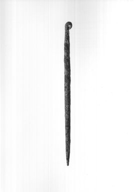 Needle. Bronze, 1/16 x 1/16 x 2 1/2 in. (0.2 x 0.2 x 6.3 cm). Brooklyn Museum, Charles Edwin Wilbour Fund, 09.889.294a. Creative Commons-BY
