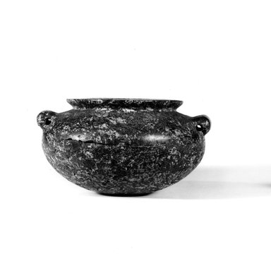 Urn. Granite, 2 7/16 x Greatest diam.4 1/2 in. (6.2 x 11.5 cm). Brooklyn Museum, Charles Edwin Wilbour Fund, 09.889.2. Creative Commons-BY