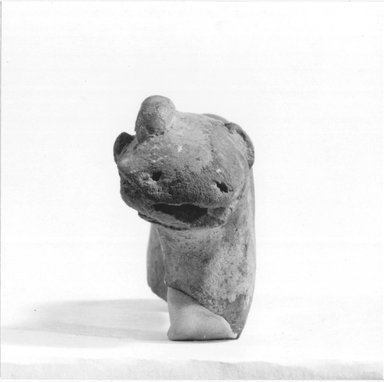 Figurine of a Hippopotamus. Terracotta, 1 15/16 x 1 x 4 3/16 in. (5 x 2.6 x 10.7 cm). Brooklyn Museum, Charles Edwin Wilbour Fund, 09.889.326. Creative Commons-BY