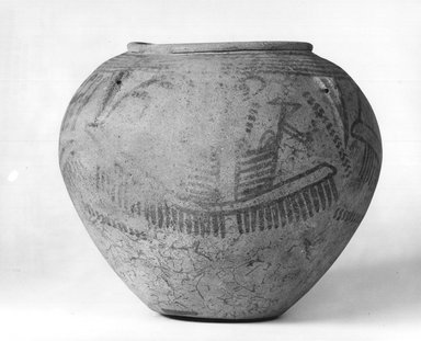 Jar with Boat Designs, ca. 3450-3350 B.C.E. Pottery, painted, 6 7/8 x greatest diam. 8 1/4 in. (17.5 x 20.9 cm). Brooklyn Museum, Charles Edwin Wilbour Fund, 09.889.400. Creative Commons-BY