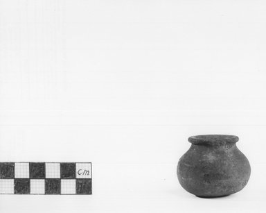 Small Black Vase. Pottery, painted, 1 7/16 x 1 3/4 in. (3.7 x 4.4 cm). Brooklyn Museum, Charles Edwin Wilbour Fund, 09.889.455. Creative Commons-BY
