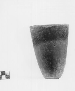 Conical Goblet. Clay, 5 5/16 x diam. of mouth 3 7/16 in. (13.5 x 8.8 cm). Brooklyn Museum, Charles Edwin Wilbour Fund, 09.889.463. Creative Commons-BY