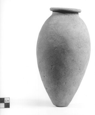 Amphora Shaped Vase. Terracotta, Height 8 in. (20.3 cm), or 7 5/8 in. (19.4 cm). Brooklyn Museum, Charles Edwin Wilbour Fund, 09.889.472. Creative Commons-BY