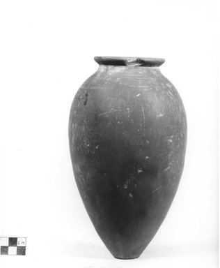 Ovoid Shaped Vase. Clay, slip, Height: 9 1/8 in. (23.1 cm). Brooklyn Museum, Charles Edwin Wilbour Fund, 09.889.590. Creative Commons-BY
