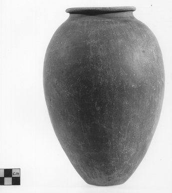 Ovoid Shaped Vase. Clay, slip, Height: 8 11/16 in. (22 cm). Brooklyn Museum, Charles Edwin Wilbour Fund, 09.889.593. Creative Commons-BY