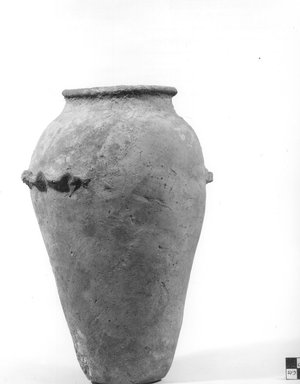 Ovoid Vase with Wavy Handle. Terracotta, painted, 10 13/16 x 6 11/16 in. (27.5 x 17 cm). Brooklyn Museum, Charles Edwin Wilbour Fund, 09.889.604. Creative Commons-BY
