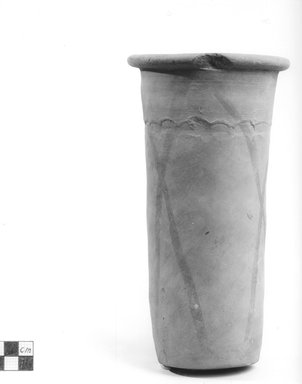Cylindrical Vase. Terracotta, painted, 8 3/8 x Diam. of mouth 3 7/16 in. (21.3 x 8.7 cm). Brooklyn Museum, Charles Edwin Wilbour Fund, 09.889.665. Creative Commons-BY