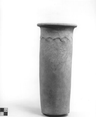 Cylindrical Vase. Terracotta, Height: 9 5/8 in. (24.5 cm). Brooklyn Museum, Charles Edwin Wilbour Fund, 09.889.672. Creative Commons-BY