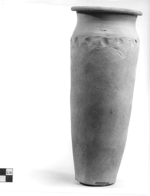 Cylindrical Vase. Clay, slip, Height: 10 1/4 in. (26.1 cm). Brooklyn Museum, Charles Edwin Wilbour Fund, 09.889.701. Creative Commons-BY