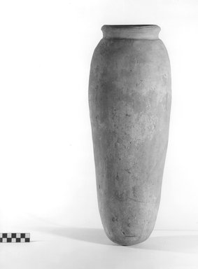 Storage Pot. Terracotta, 19 3/16 x 6 3/16 in. (48.8 x 15.7 cm). Brooklyn Museum, Charles Edwin Wilbour Fund, 09.889.735. Creative Commons-BY