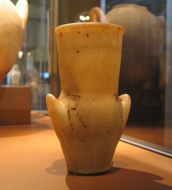 Amphora with Painted Floral Collar