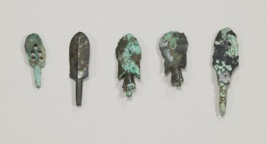 Arrow Head, 1 of Set of 4, 4th century. Bronze, 1 1/2 in. (3.8 cm). Brooklyn Museum, Museum Expedition 1909, Purchased with funds given by Thomas T. Barr, E. LeGrand Beers, Carll H. de Silver, Herman B. Stutzer, Colonel Robert B. Woodward and the Museum Collection Fund, 09.908.2. Creative Commons-BY