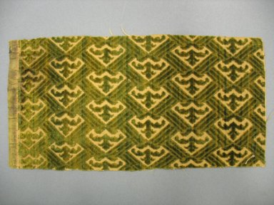 Textile Fragment, 16th century. Cut and voided silk velvet, 4 15/16 x 10 1/4 in. (12.5 x 26.1 cm). Brooklyn Museum, Purchased by Special Subscription, 11.107