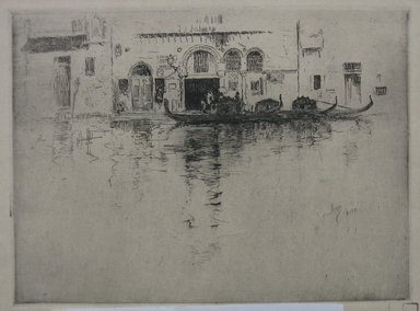 Robert Frederick Blum (American, 1857-1903). Gondola and Venetian Palace, n.d. Etching and drypoint oncream-colored wove paper, Sheet: 9 7/16 x 12 1/2 in. (24 x 31.8 cm). Brooklyn Museum, Gift of the Cincinnati Museum Association, 11.581