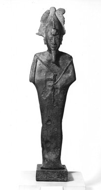Figure of Osiris. Bronze, 16 15/16 x 4 7/16 x 3 5/16 in. (43 x 11.2 x 8.4 cm). Brooklyn Museum, Museum Collection Fund, 11.657a-b. Creative Commons-BY