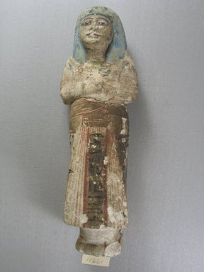 Large Painted Ushabti of Dhutmosi, ca. 1292-1075 B.C.E. Limestone, painted, 10 1/4 x 3 1/4 x 2 3/8 in. (26 x 8.2 x 6.1 cm). Brooklyn Museum, Museum Collection Fund, 11.661. Creative Commons-BY